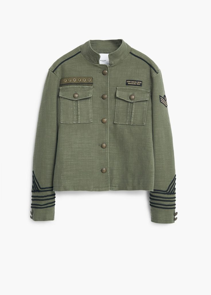 Military-style jacket - Jackets for Women | MANGO