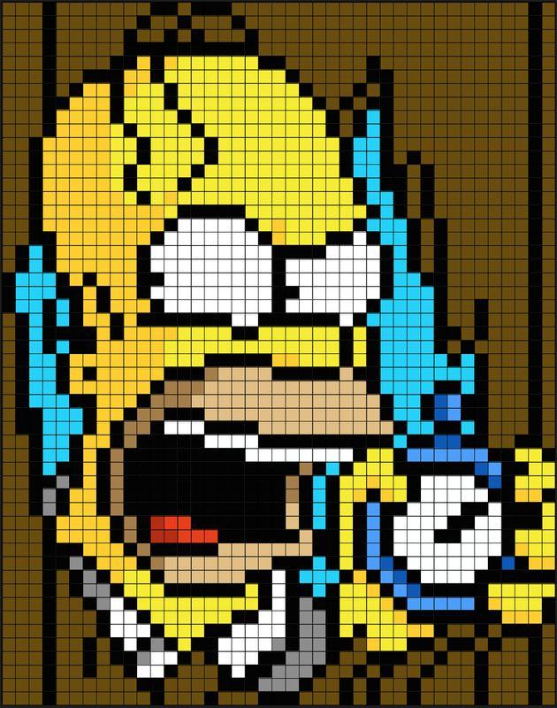 Simpsons Halloween Perler Bead Pixel Art Patterns - Pixel Art Shop