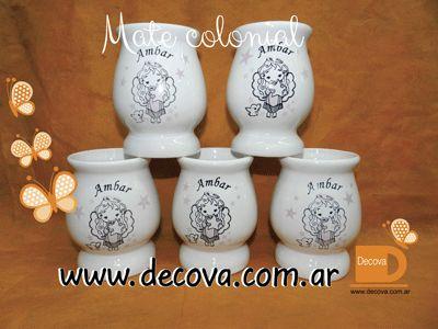 Mates colonial decorado a dos colores. souvenirs para comunion...  Totalmente personalizados con el dibujo, frase que vos quieras....  #cumpleaños #decoracion #deco #mates #decova #cumple #ceramica #casamiento #eventos #regalos