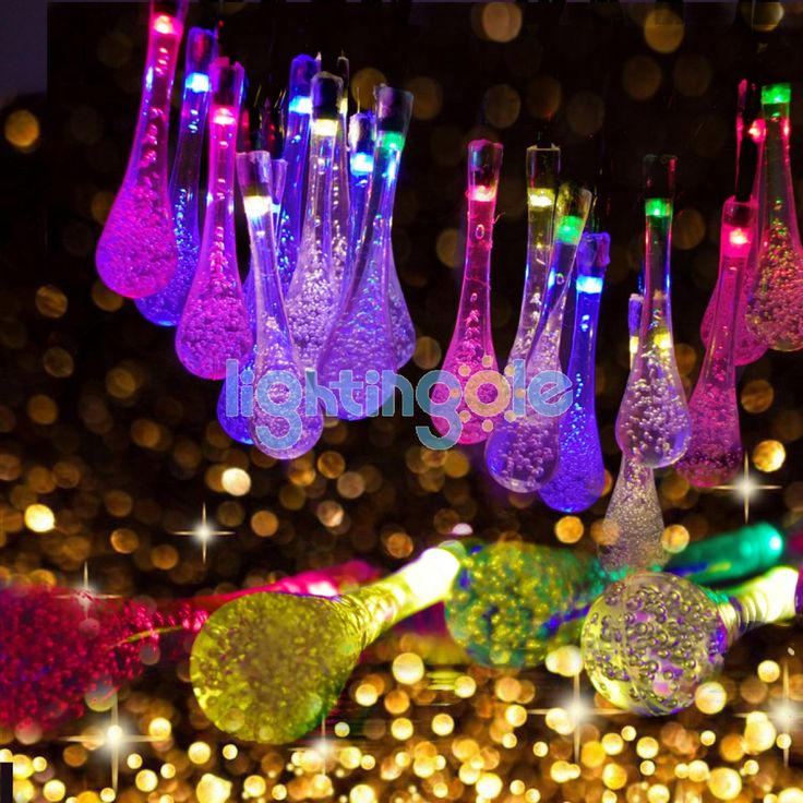 20 Rain LED String Fairy Lights Wedding Party Christmas Decoration Colorful - Strips and Strings - Lightingole.com