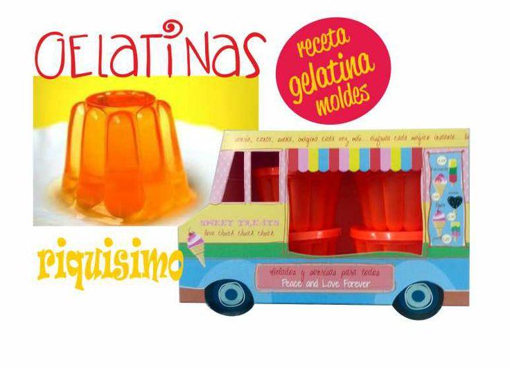 camión con moldes para hacer gelatina