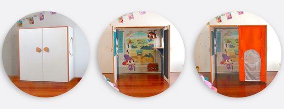 Casita de juegos que se convierte en armario y escritorio, Dreamhut Mini - Mamidecora