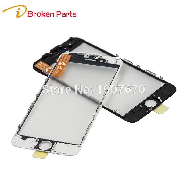 NEW AAA+ Cold Press Replacement LCD Front Touch Screen Glass Outer Lens with frame OCA film for iphone 7 6 6s plus 5s 5g 5c