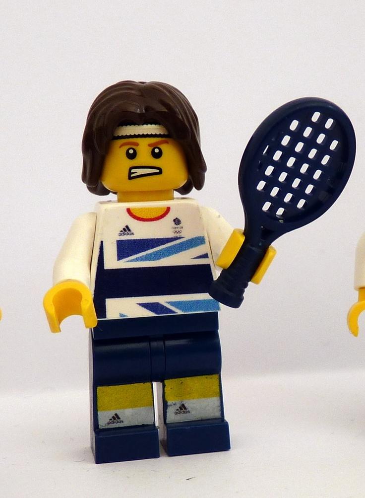 Team GB Olympic tennis Lego minifig