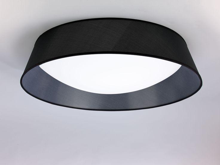 Plafón de techo Nórdica LED Ø 90 pantalla negra 4967 de Mantra [4967] - 301,87€ : #iluminaciondeinteriores