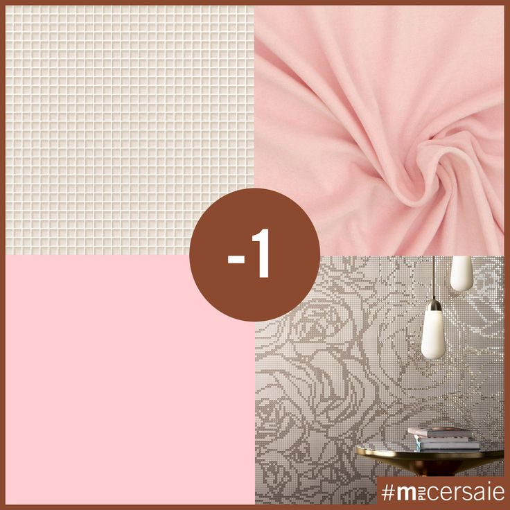 M+Cersaie2016 - Pad 36 Stand A31 BE ROMANTIC #pink #romantic #baroque #shapeyourstyle #mosaicopiu #mosaic #glassmosaic