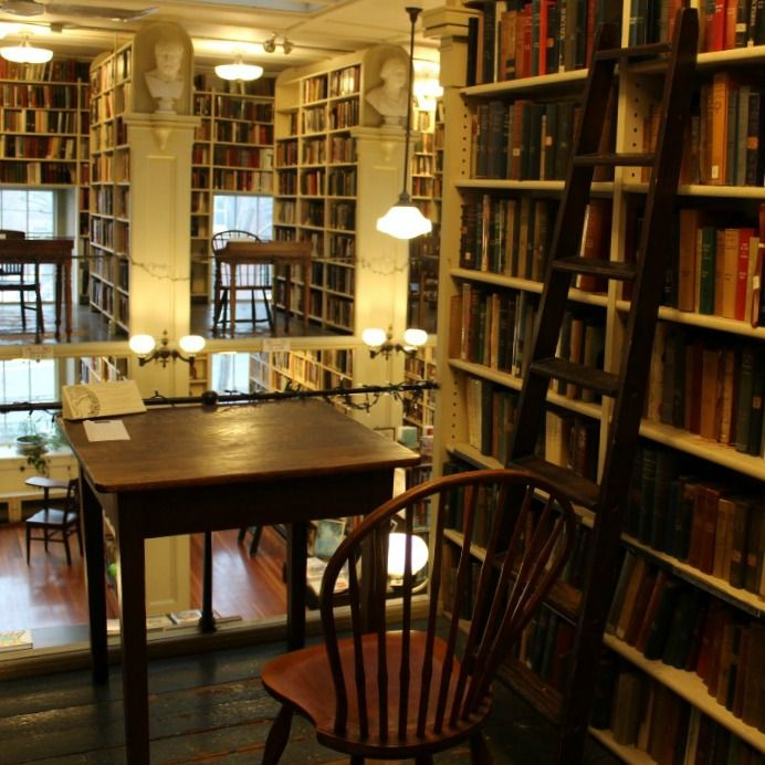 I could sit and read here all day.  One of my favourite nooks in one of my favourite places in Providence.  The Providence Athenaeum.
