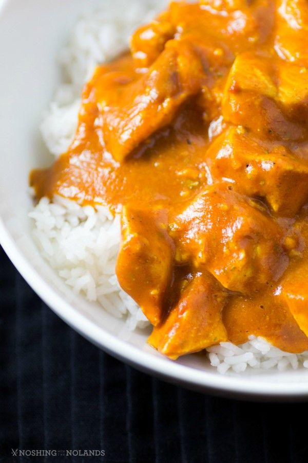 Healthy Slow Cooker Butter Chicken by Noshing With The Nolands