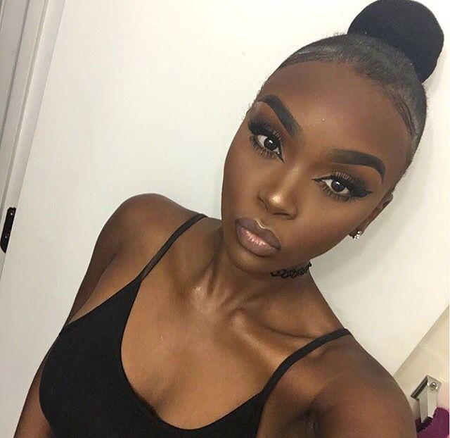 how to make makeup look natural for dark skin