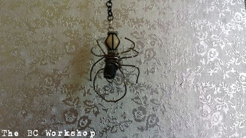 Tribal Spider Pendant / Key Chain