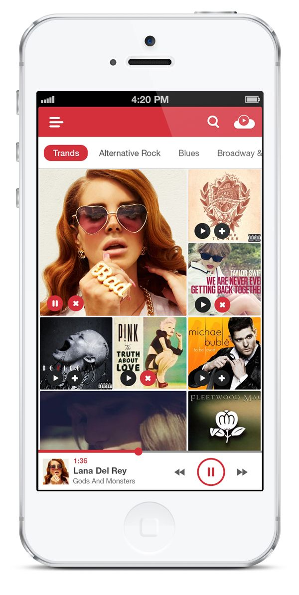 Music Apps for Mobile: 50 Beautiful Concept Designs