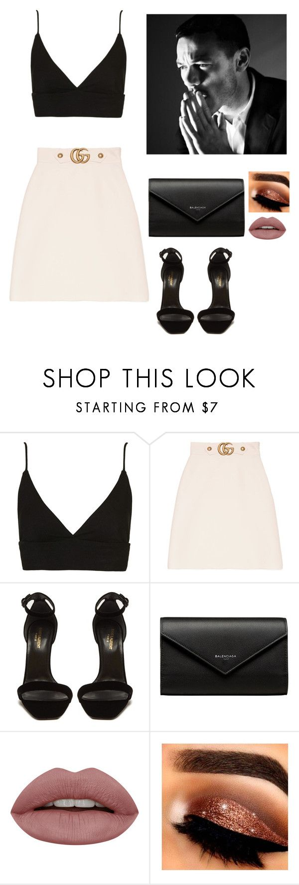 """""""You're my moonlight"""" by lissaespinosa1 on Polyvore featuring moda, Topshop, Gucci, Yves Saint Laurent y Balenciaga"""