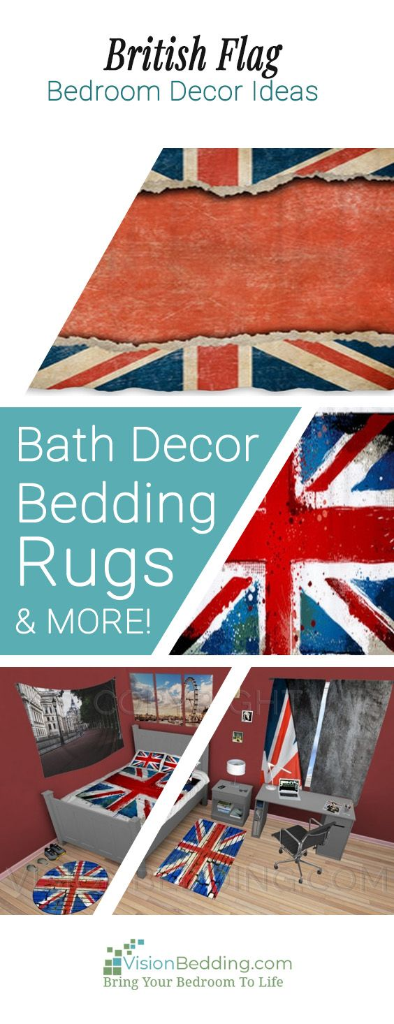 Cool British Flag themed bedroom decorating ides. Create a unique personalized British Flag themed bedroom. Decorating ideas for your entire bedroom from floor to ceiling! #britishflaghomedecor #britishflagbedding #britishflagbeddingsets #britishflagcomforters #britishflagpillows #britishflagwindowcurtains #britishflagrugs #britishflagwallart #britishflagshowercurtains #britishflagbathdecor #british #britishtheme #personalized #customsize #buy #unique #custom #visionbedding