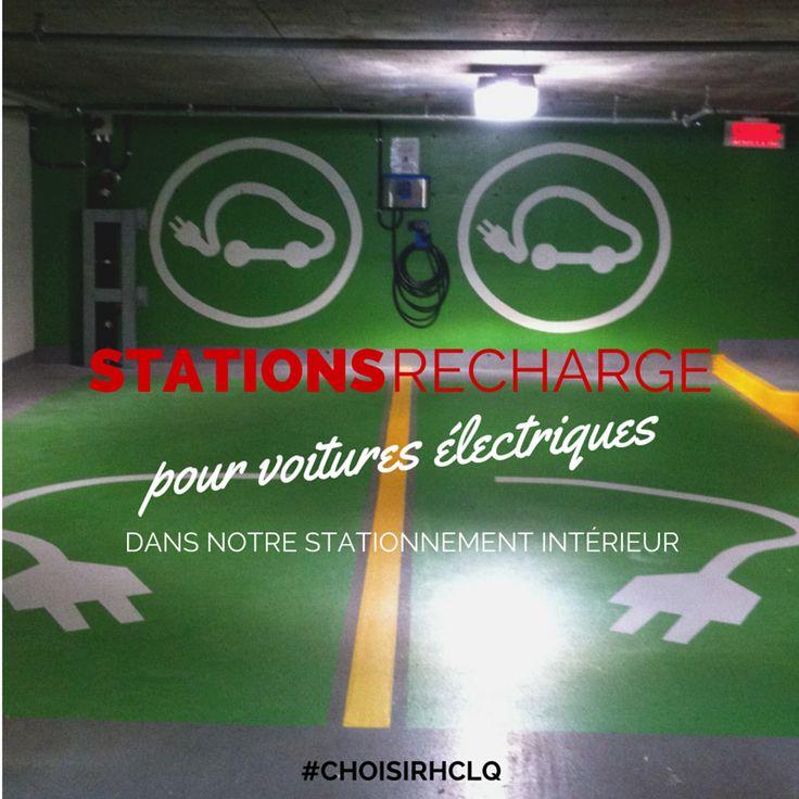 Station de recharge pour #AutoÉlectrique  #automobile #Green #Vert Hotel Chateau Laurier