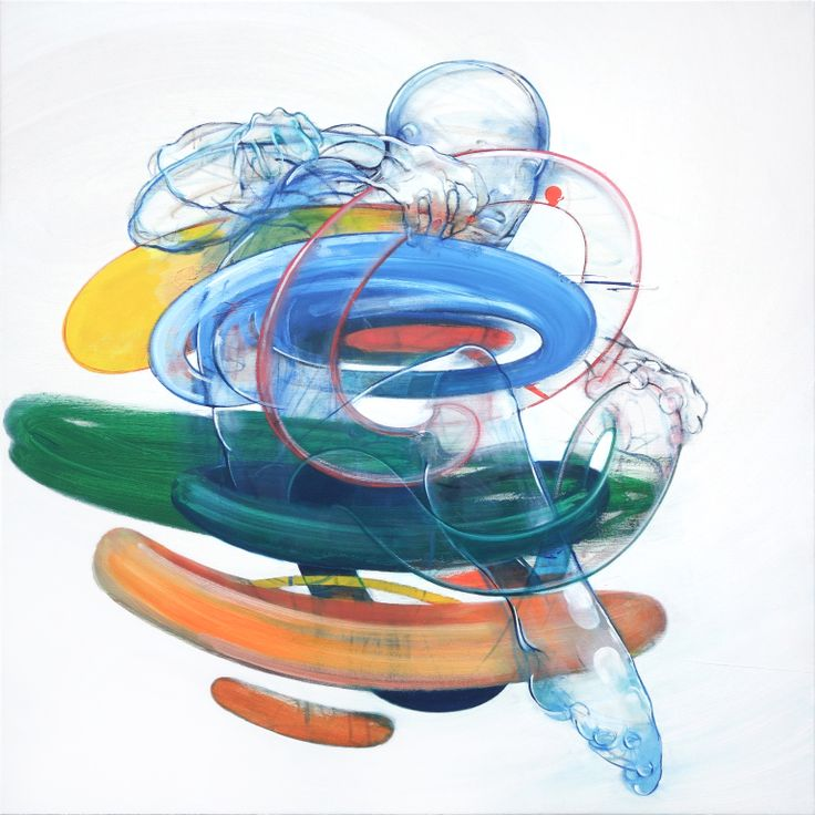 """Peter Max-Jakobsen """"IN THE AIR"""", to be exhibited in May."""