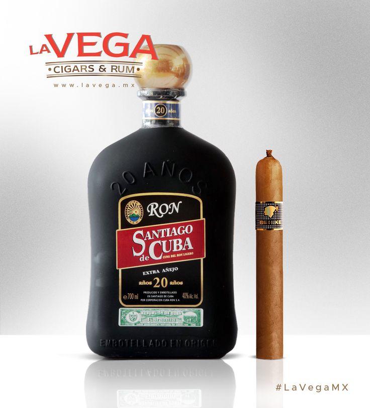 El Ron Santiago de Cuba 20 años es el destilado que mejor armoniza con un Behike de Cohiba, disponibles para ti en La Vega Cigars & Rum #LaVegaMX #Maridaje #Pairing #cigars #rum #Sayulita #beach #vacation #playa