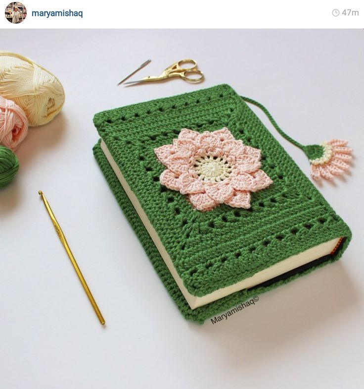 Crochet Book Cover Pattern Free : Best crochet book cover ideas on pinterest