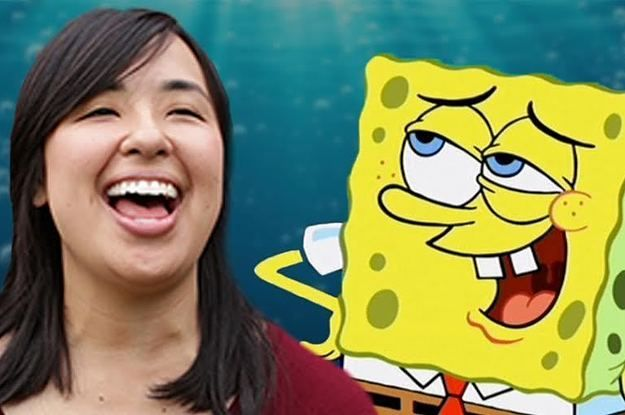 Buzzfeed people try to laugh like spongebob.  Funniest thing ever.