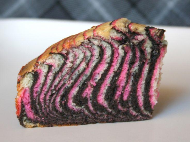 Pink & Zebra striped cake tutorial!!!