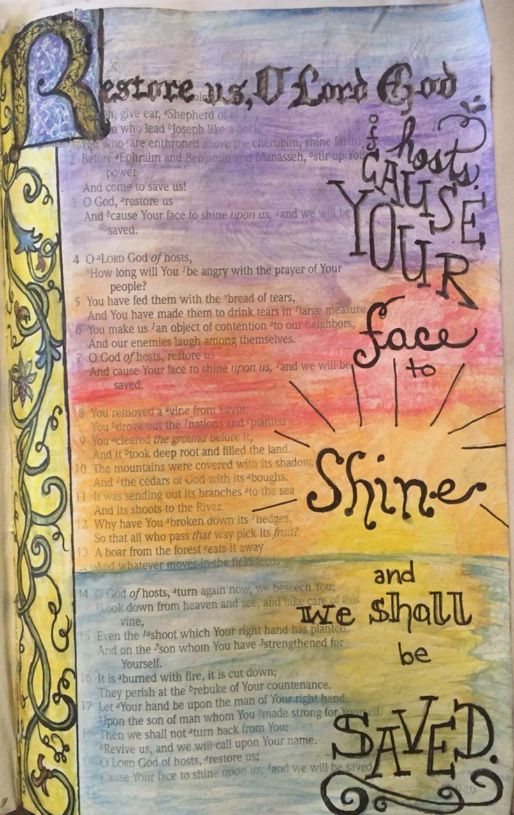 Psalm 80. Restore us O Lord.