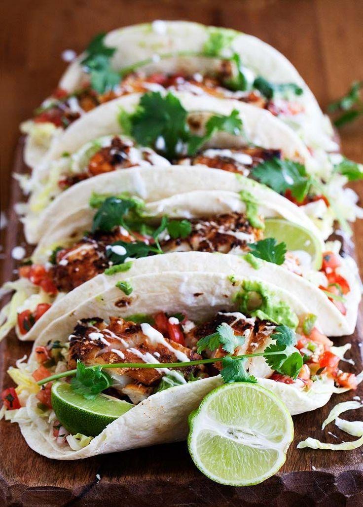 Cajun Fish Tacos Recipe Food Recipes Fish Tacos