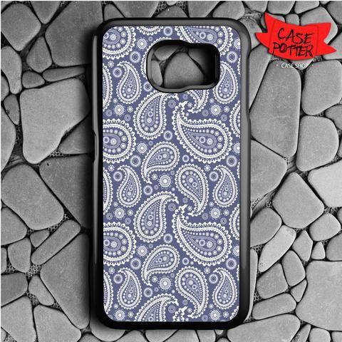 Blue Paisley Samsung Galaxy S6 Black Case