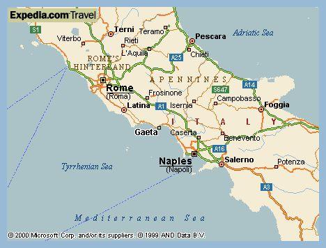 Map Of Gaeta Italy | CVFLVBP