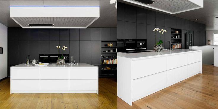 Cucina bianca e nera dal design moderno 19   Cucine   Pinterest ...