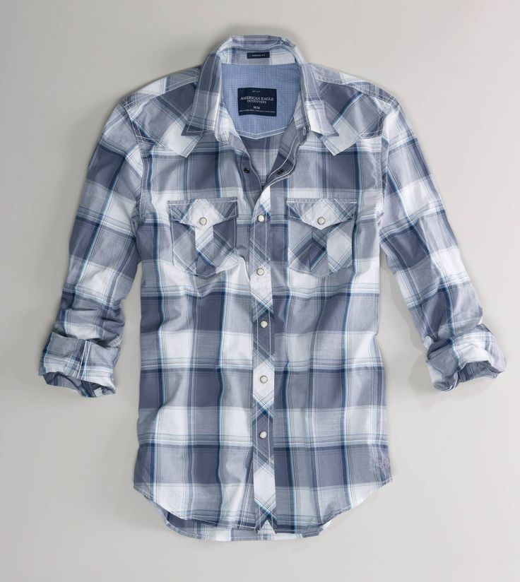 Flyout Product Image  Long Sleeve Plaid Shirt. Perfect for a country boy