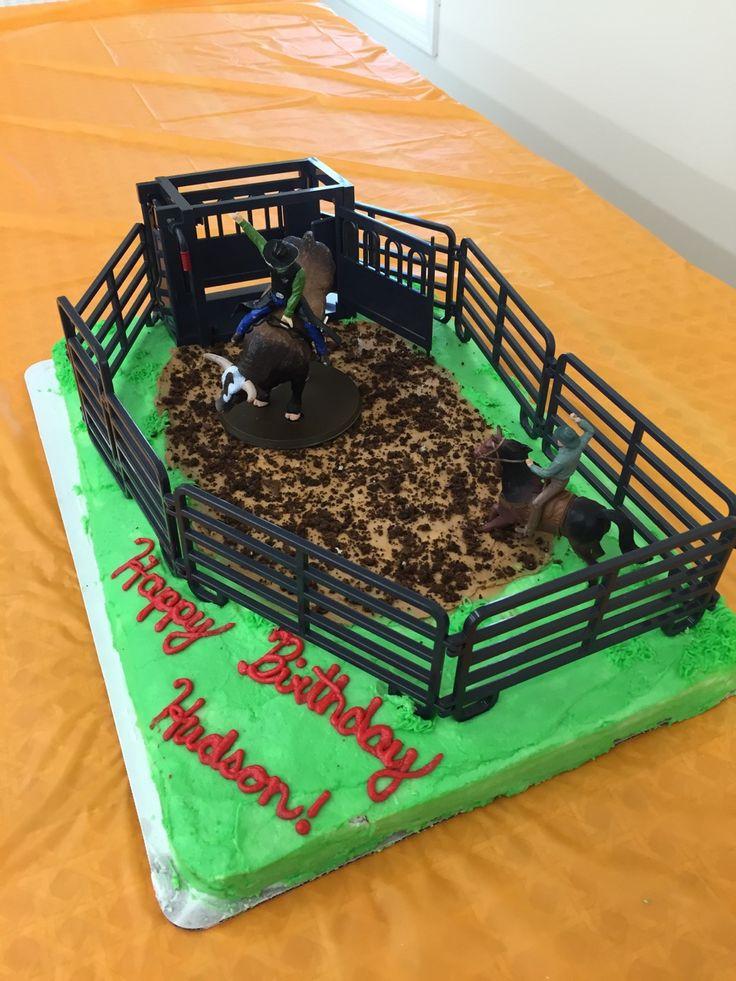 Rodeo birthday cake. Kaylea's cake she made for Hudson's 6th birthday.