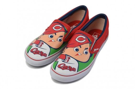 http://SneakersCartel.com Peep The Hiroshima Toyo Carp x Vans Slip-On #sneakers #shoes #kicks #jordan #lebron #nba #nike #adidas #reebok #airjordan #sneakerhead #fashion #sneakerscartel