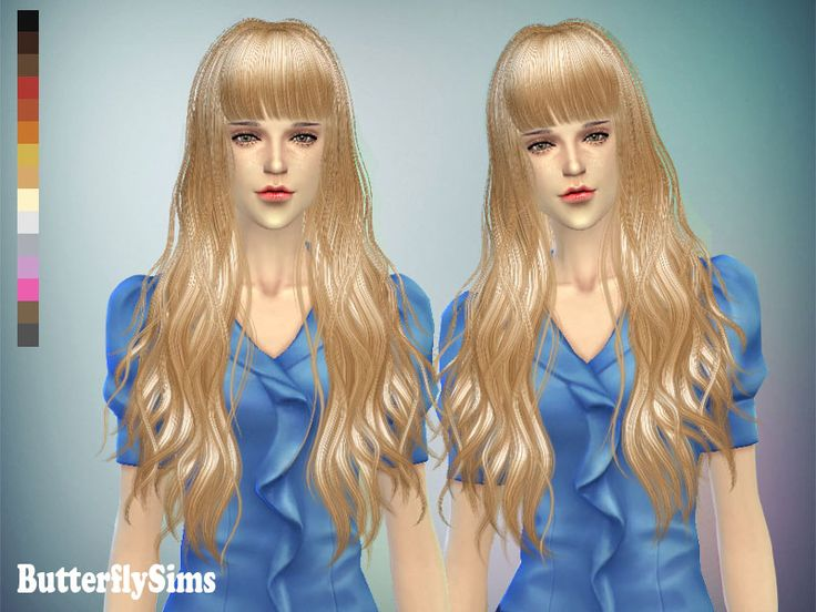 Butterflysims: Hairstyle 049 • Sims 4 Hairs