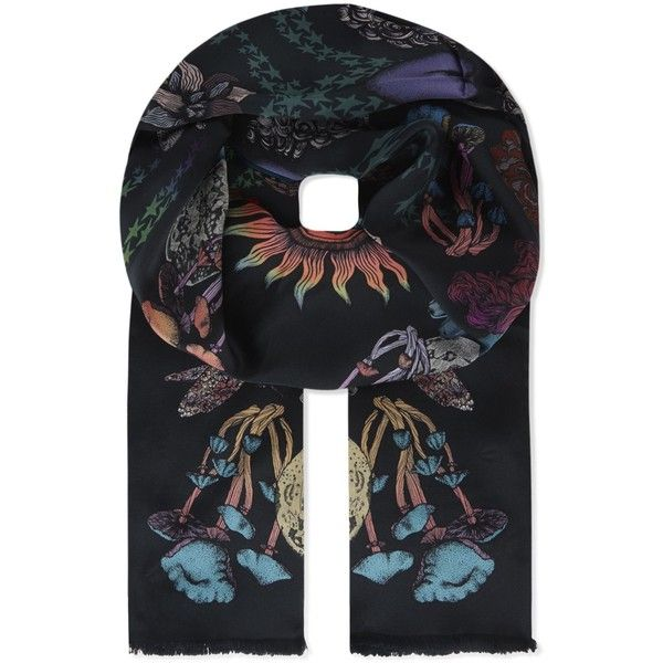PAUL SMITH Mystical print silk scarf ($230) ❤ liked on Polyvore featuring men's fashion, men's accessories, men's scarves and mens silk scarves