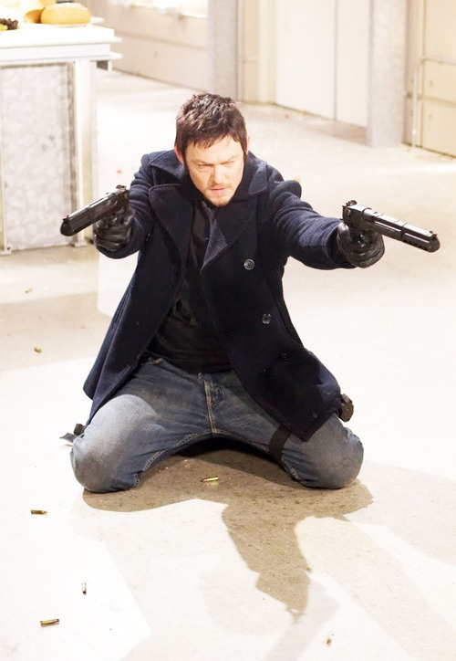 I remember when I first saw him in the Walking Dead, he looked familiar. Then I realized Norman was from The Boondock Saints.