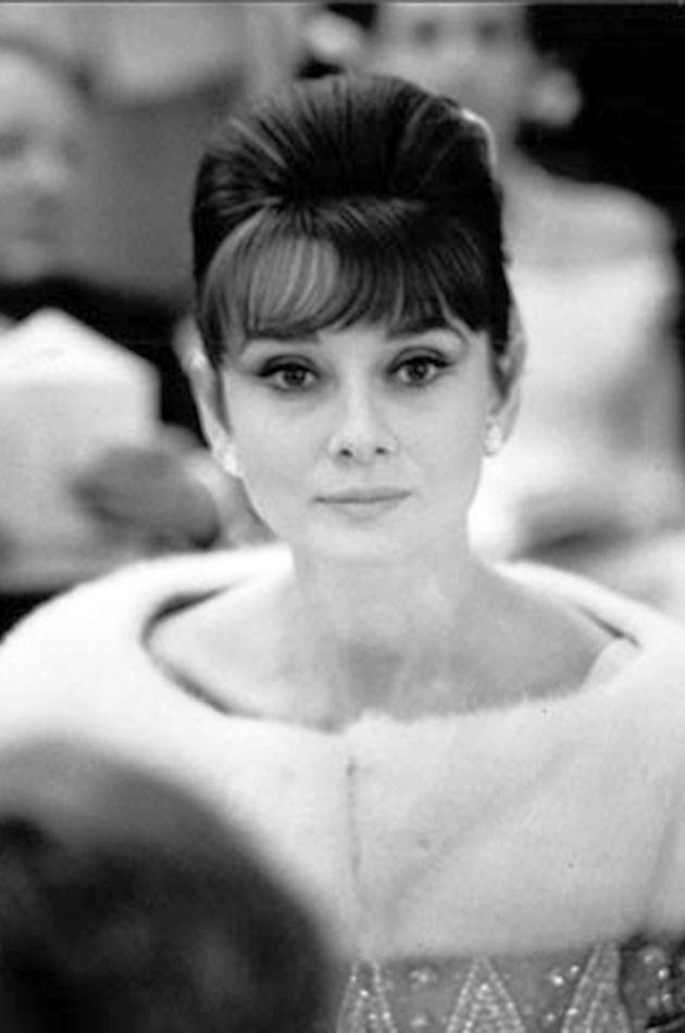 Rare Audrey Hepburn — Audrey Hepburn photographed during a raffle (in...