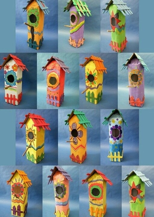 Bird house from milk