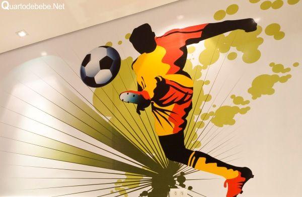 25 melhores ideias de quarto de futebol no pinterest - Papel infantil para paredes ...