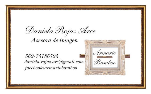 Tarjeta de presentación Asesora de Imagen 2 by daniela-paz-rojas-arce on Polyvore featuring moda