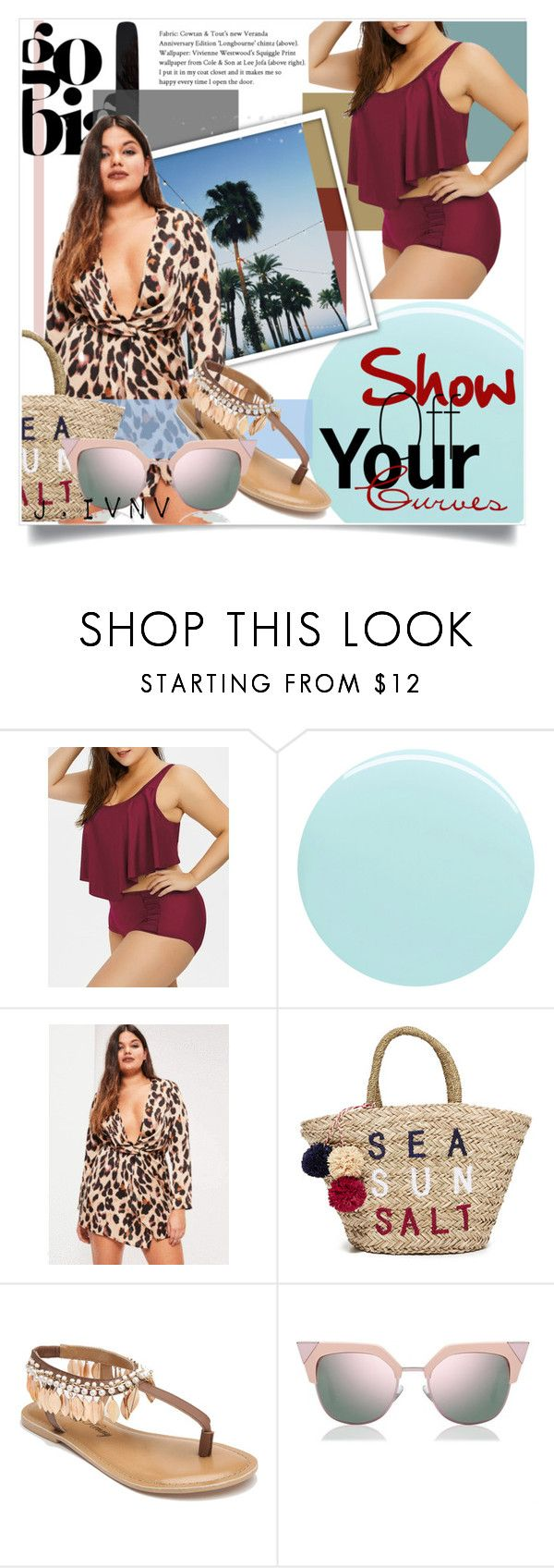 """Show off Your Curves: Bikini"" by j-ivnv ❤ liked on Polyvore featuring JINsoon, Sundry, Penny Loves Kenny, Fendi, Summer, bikini and plussize"