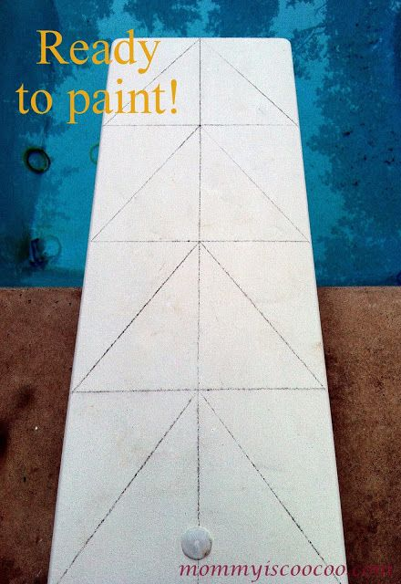 Chalk Paint, Chevron Stripe, Diving Board - Mommy Is Coo Coo