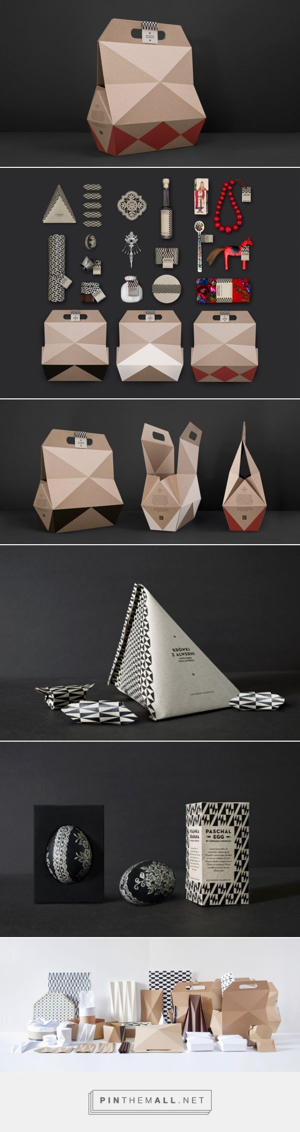 Zestawy upominkowe Przybornik Małopolski curated by Packaging Diva PD. Love this patterned design and packaging.