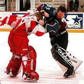 Ozzie VS Roy  You know it's tense when the goalies go at it!