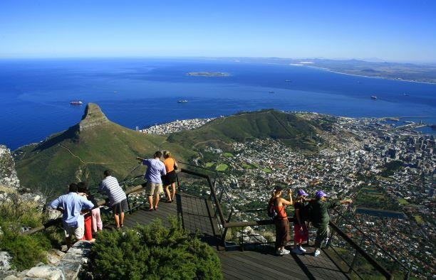 Spectacular view on top of Table Mountain. South Africa...