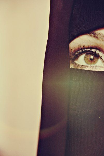 Beautiful Hazel eyed Niqabi