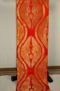 Japanese Good Quality Unused Gorgeous Beautiful Red Weave Fukuro Silk OBI | eBay