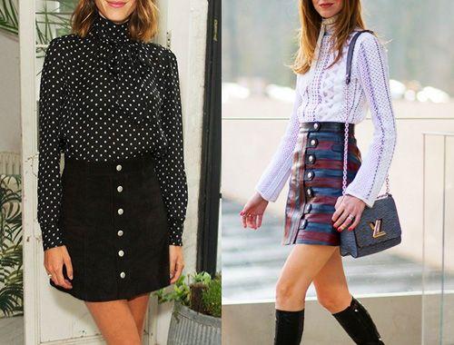 Mini spódniczka trapezowa - TREND mini skirt A line