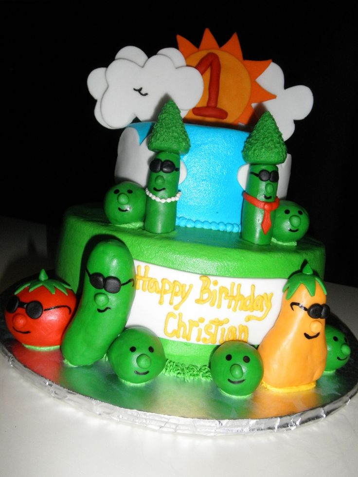 Cake Veggietales Theme Song