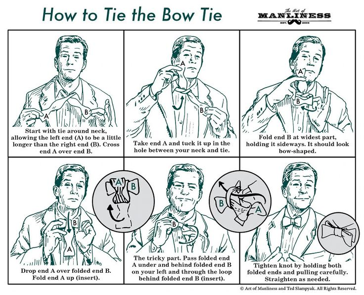 18 best how to be a man images on pinterest art of manliness how to tie a bow tie ccuart Images