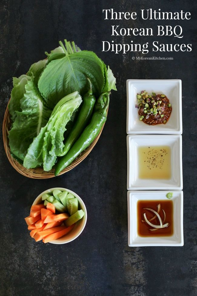 Three Ultimate Korean BBQ Dipping Sauces | MyKoreanKitchen.com