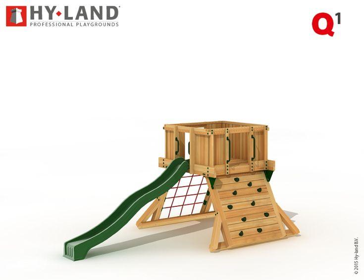 Vintage Spielturm HY LAND Q Serie Kletterturm mit Rutsche DIN EN F r den ffentlichen